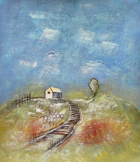 House on the Hill Oil Painting