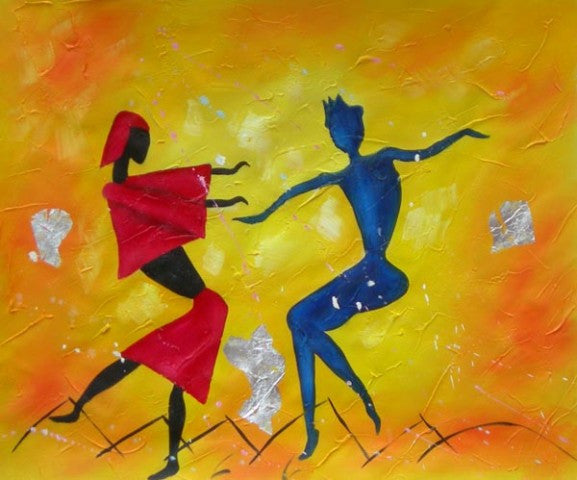 Dancing Fools Oil Painting