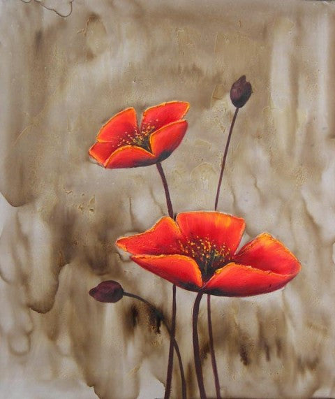 Wild Poppies Oil Painting