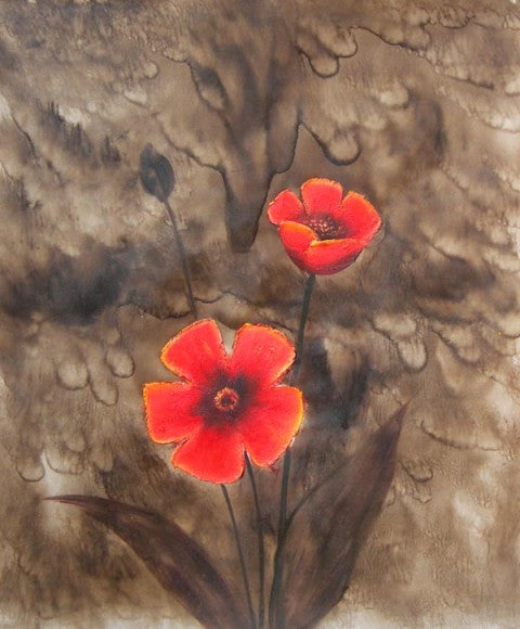 Red Flower Oil Painting