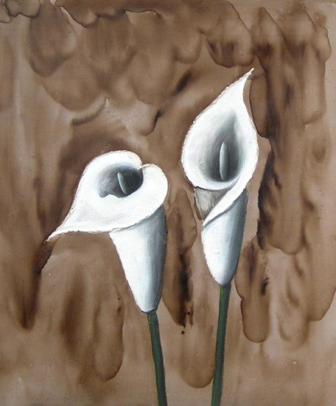 Calla Lilies Oil Painting