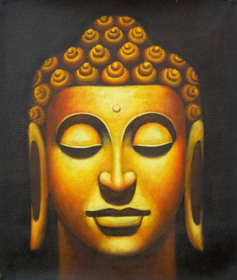 Bronze Buddha Oil Painting