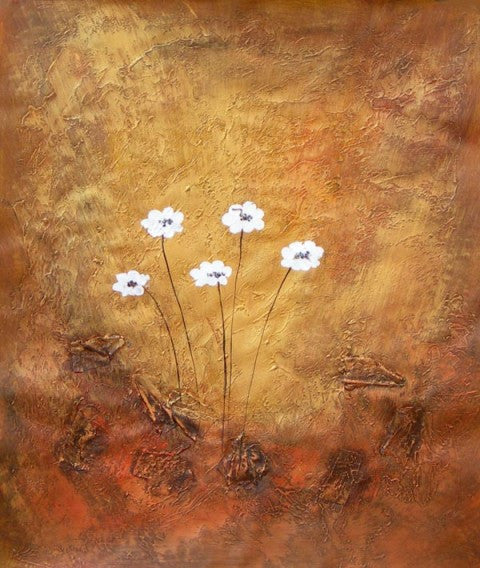 Flowers White as Snow Oil Painting