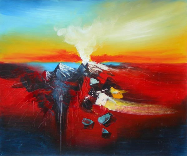 Lava Flows Oil Painting