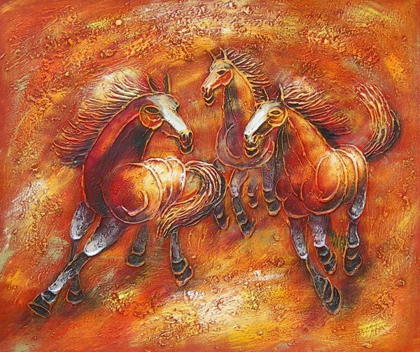 Wild Horses I Oil Painting