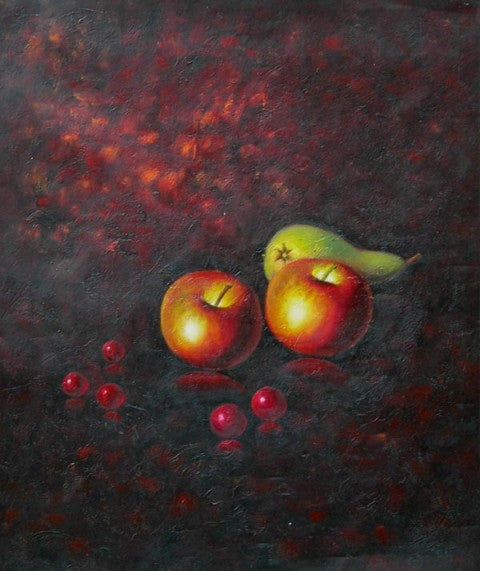 Apples and Pear Oil Painting