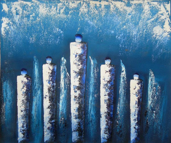 Icicles Oil Painting