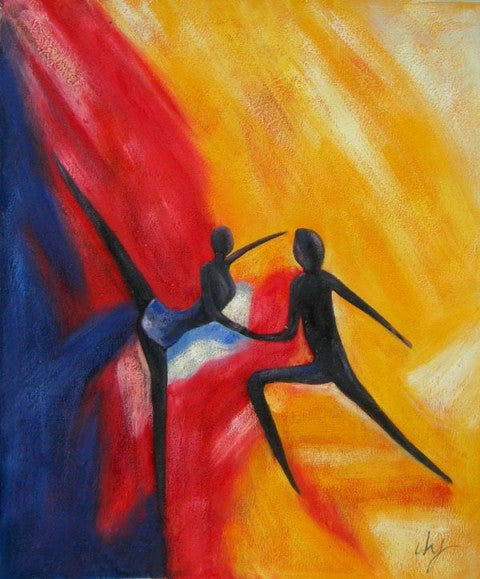 Dancing in Pairs Oil Painting