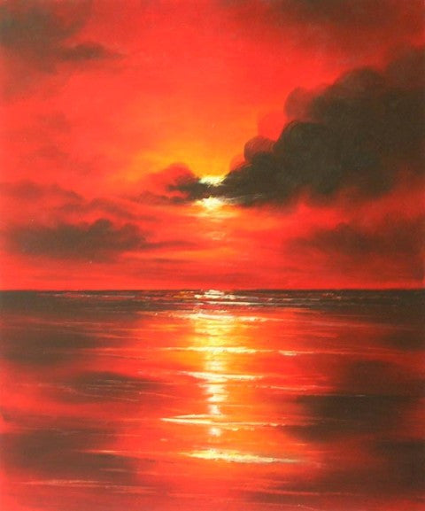 Sea of Fire Canvas Wall Art