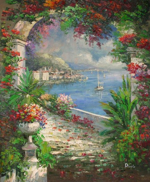 Garden Archway Oil Painting