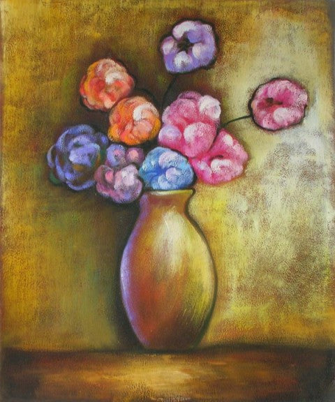Cotton Candy Bouquet Oil Painting