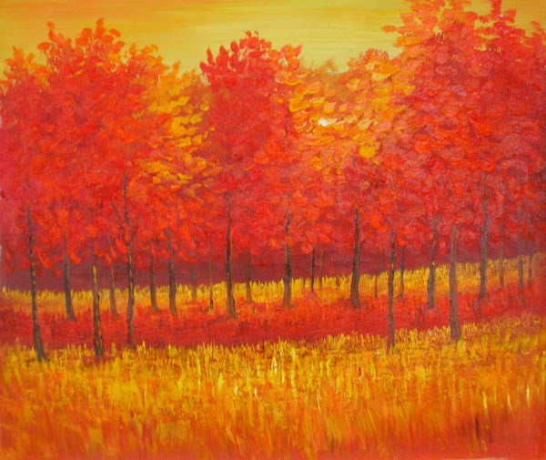 Autumn Wilderness Oil Painting