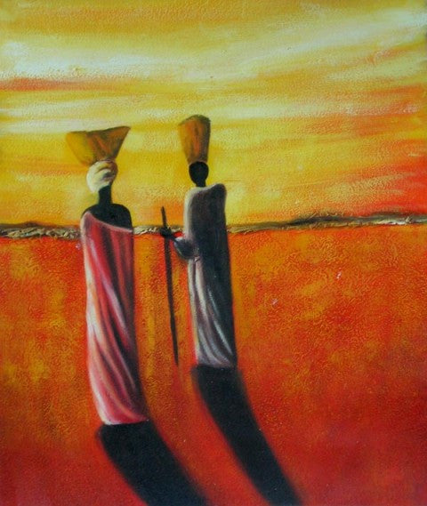 People of Africa Oil Painting