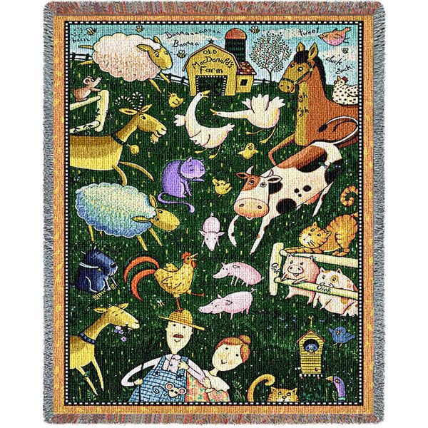 Old Mac Donald - Tapestry Throw
