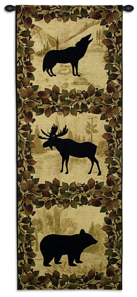 Lodge Silhouette Tapestry Wall Hanging