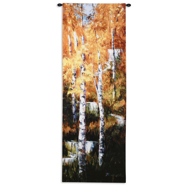 Autumn Birch Fall Tapestry Wall Hanging