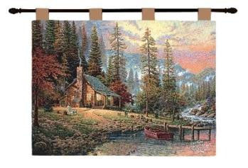 A Peaceful Retreat by Thomas Kinkade I Fine Art Tapestry