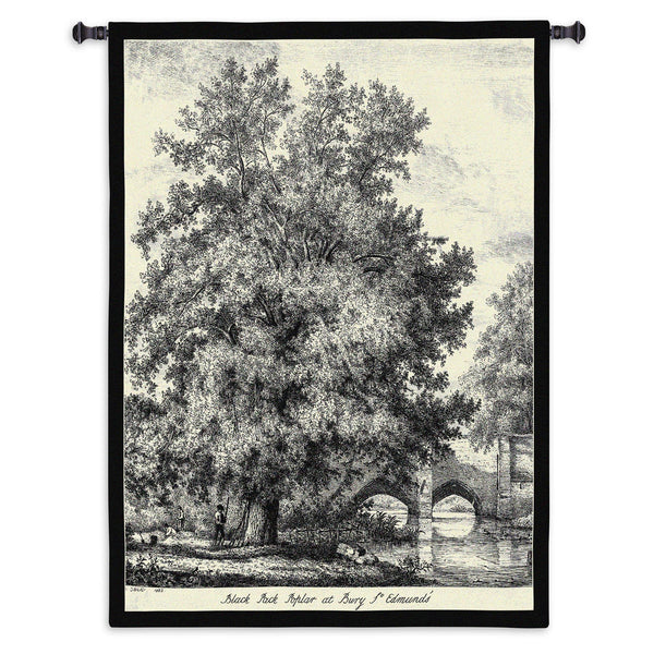 Black Poplar Tapestry Wall Hanging