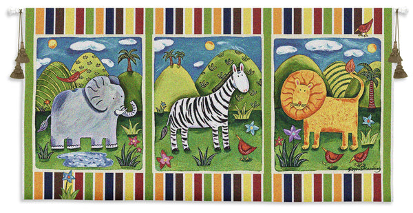 On Safari Tapestry Wall Hanging