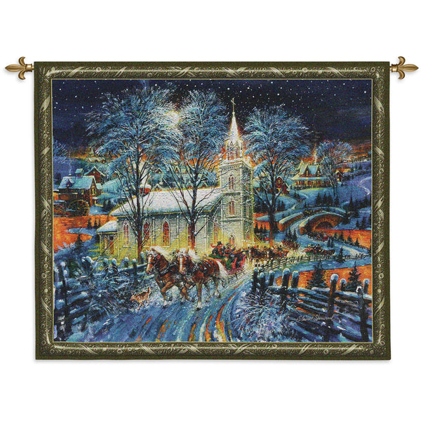 Midnight Clear Tapestry Wall Hanging