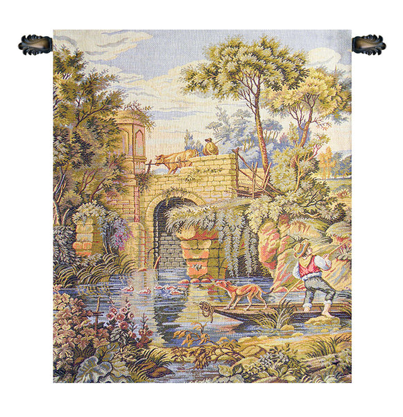 Ponte Old Bridge Italian Tapestry Wallhanging