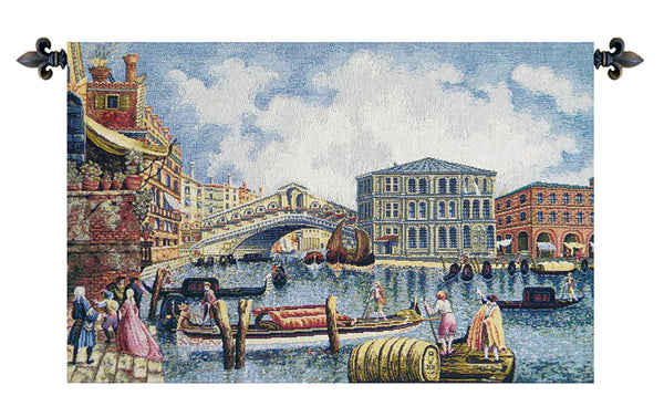 Ponte Di Rialto II Italian Tapestry Wallhanging