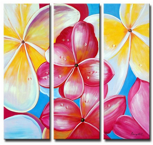 Plumeria Flowers Canvas Art