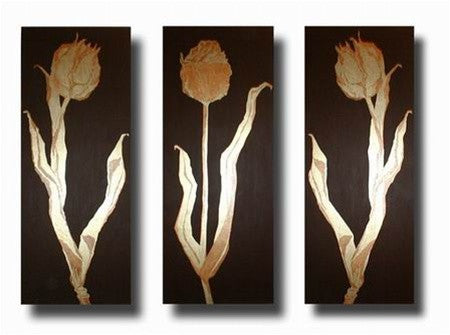 Golden Tulips Canvas Art