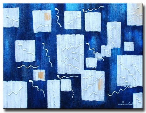 Ice Blue Canvas Art