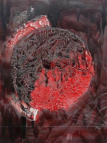 Deep Red Moon Canvas Art