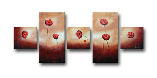 Flowers Here and There Canvas Art