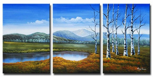 Family of Birch Canvas Art