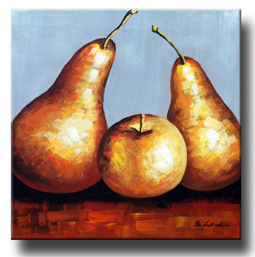 Golden Pears Canvas Art