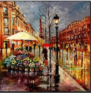 Evening Rain in Paris Canvas Art