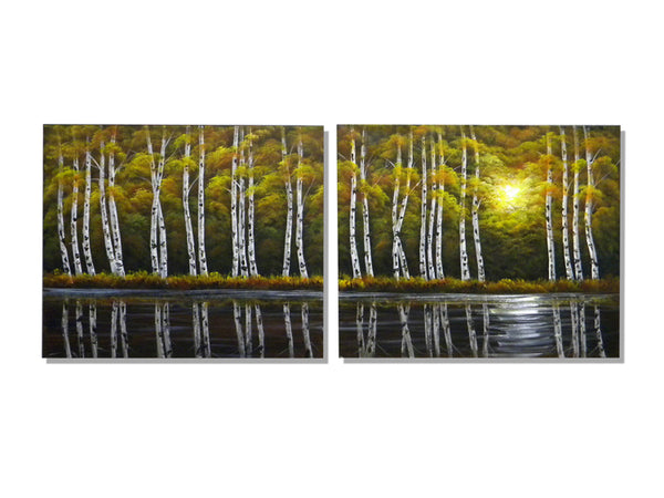 Lakeside Aspen Canvas Art