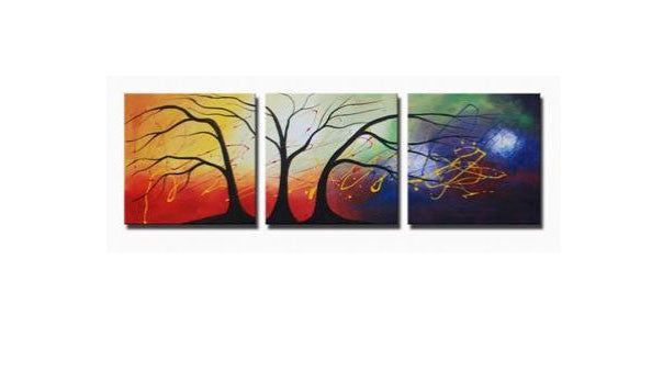 Cosmic Trees Canvas Art