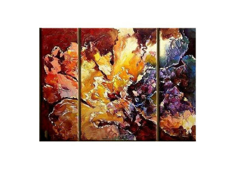 Coral Bouquet Canvas Art