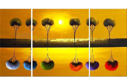 Reflections in Colors Canvas Art