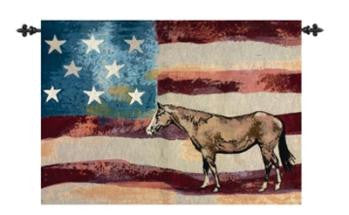 American Horse Fine Art Tapestry