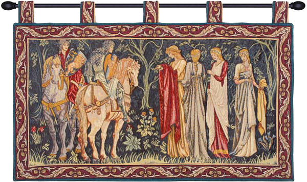 Knight and Ladies of Camelot with Loops Wall Hanging