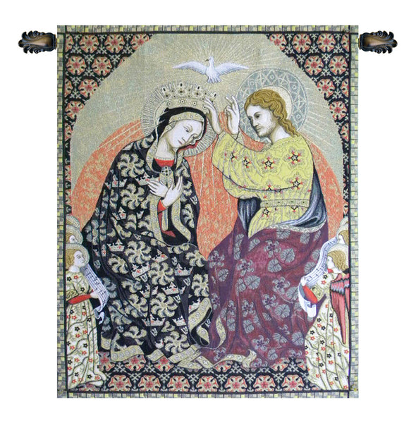 Madonna's Coronation Italian Tapestry Wallhanging