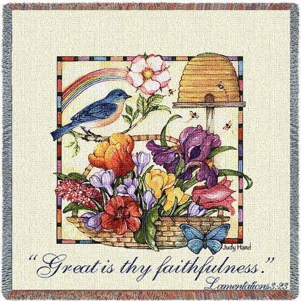 Faithfulness Tapestry Throw