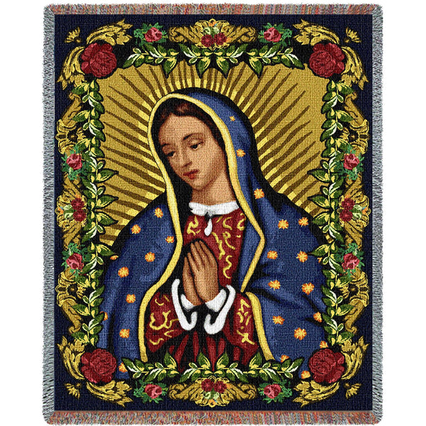 Our Lady of Guadalupe II Tapestry Throw