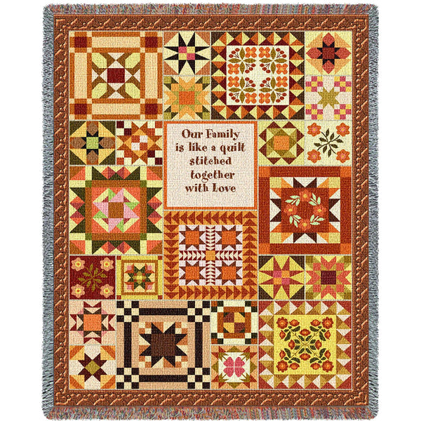 Warm Family Quilt Tapestry Throw