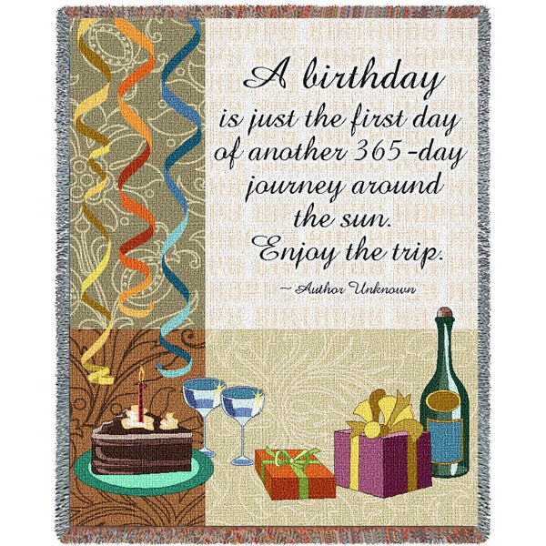 Your Birthday Tapestry Throw