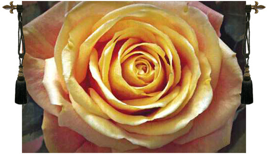Yellow Rose Belgian Tapestry Wall Hanging