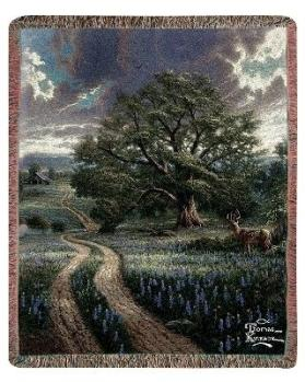 Country Living byThomas Kinkade Tapestry Throw