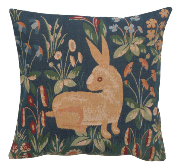 Medieval Rabbit French Tapestry Cushion