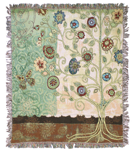Gypsy Garden Tapestry Throw