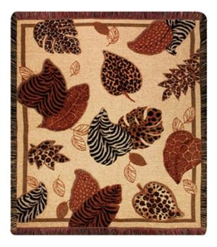 Walk On The Wild Side Chenille Tapestry Throw